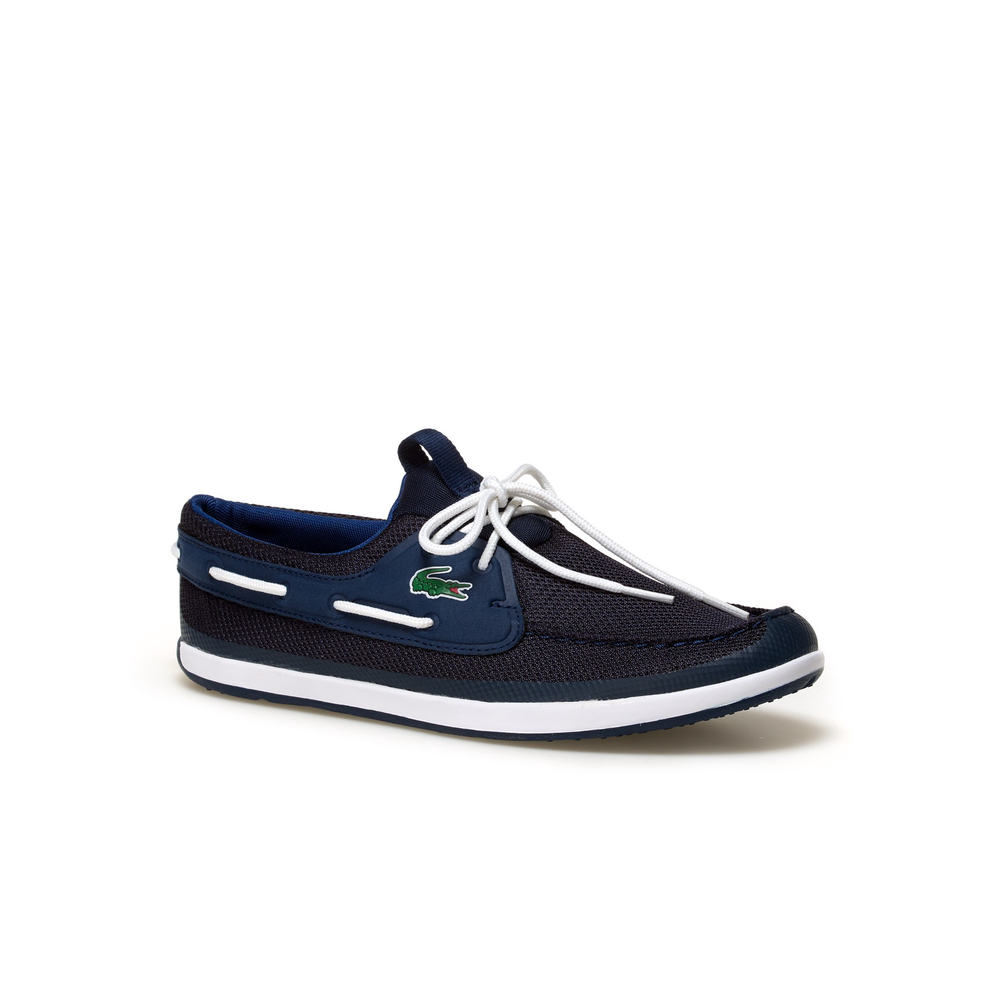 b32470a22a LACOSTE Men s Landsailing Textile Boat Shoes - navy dark blue.  lacoste   shoes