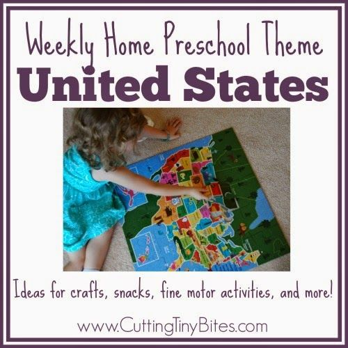 Photo of United States Theme- Weekly Home Preschool