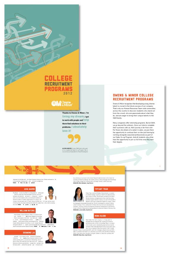 College Recruitment Brochure Print Design Brochure Design
