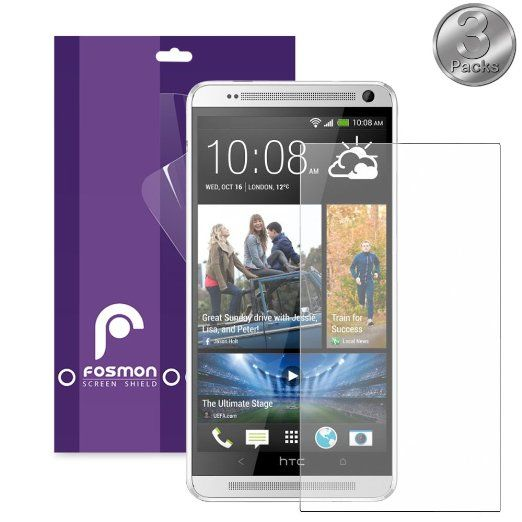 Fosmon Anti-Glare (Matte) Screen Protector for 2014 HTC One (M8) - Retail Packaging (3 Pack)
