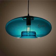 vintage creative handmade dia 40cm blue crystal glass led e27