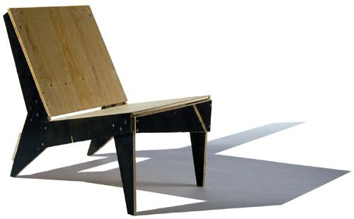 DIY Modern Chair Made From Scrap Plywood. Could Be Fun To Make And Then  Paint