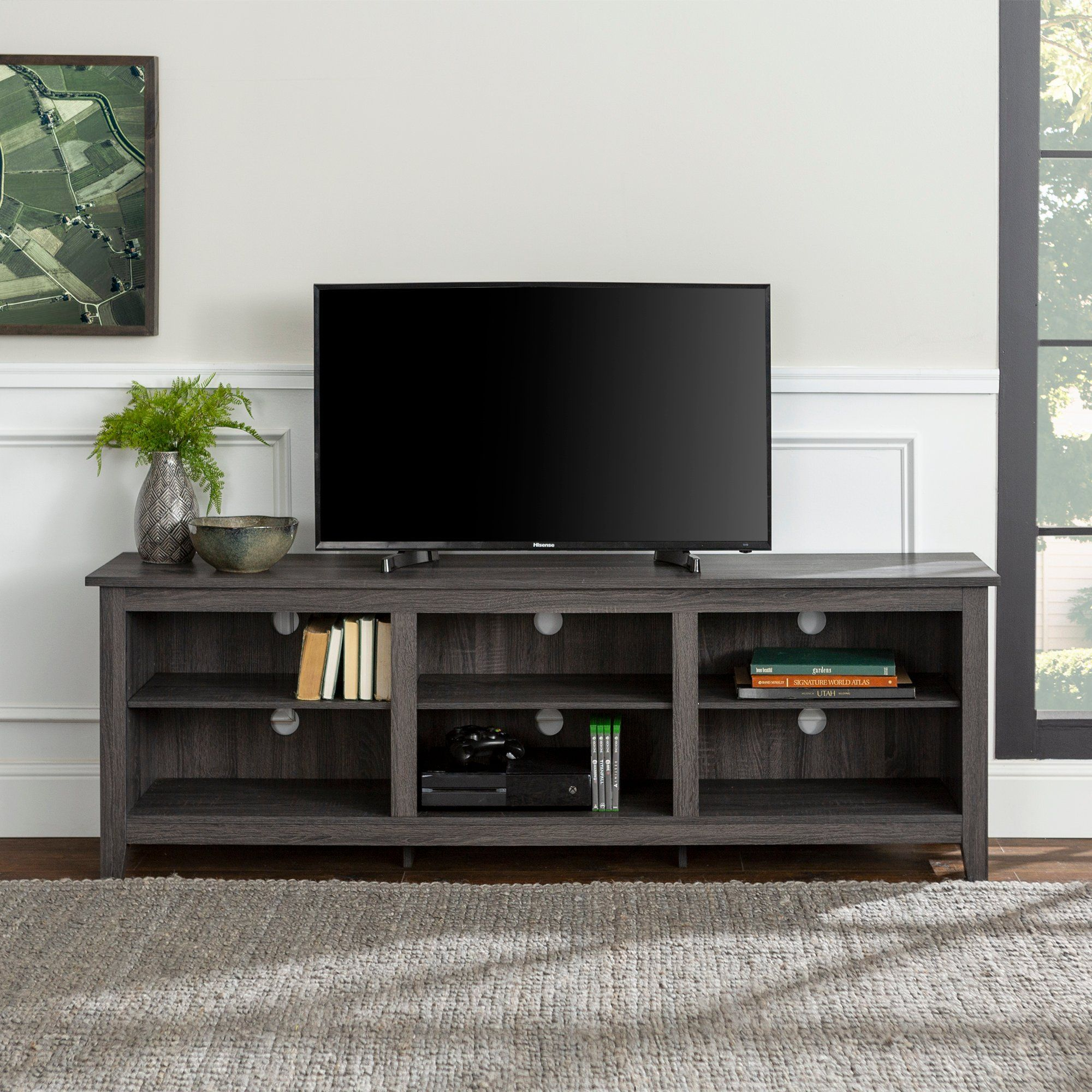 Modern 70 Inch Charcoal Tv Stand Tv Stand Furniture