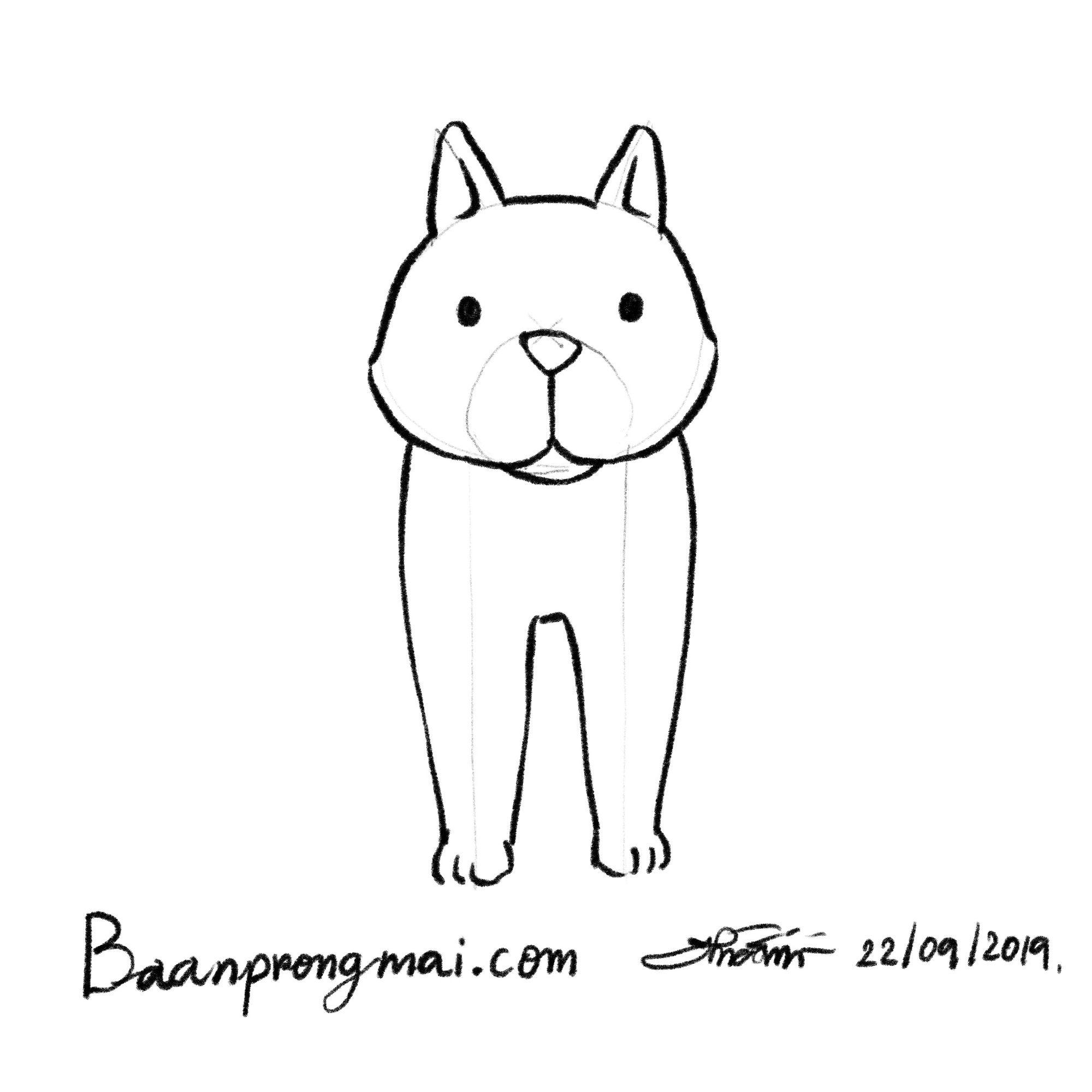 ภาพวาดหมาด านหน า In Front Of Dog วาด วาดร ป วาดการ ต น ฝ กวาด ฝ กวาดร ป ฝ กวาดการ ต น Draw Drawing Sketching Sketch How To Draw Draw Cartoon H