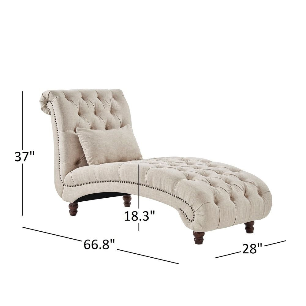 Knightsbridge Tufted Oversized Chaise Lounge by iNSPIRE Q