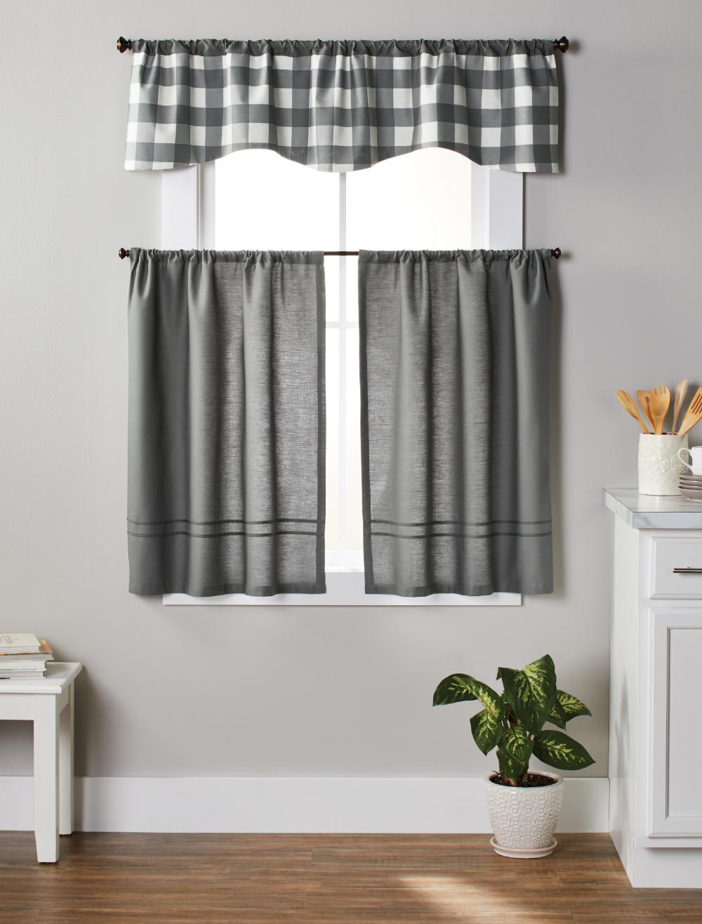 Home In 2020 Kitchen Window Curtains Grey Kitchen Curtains