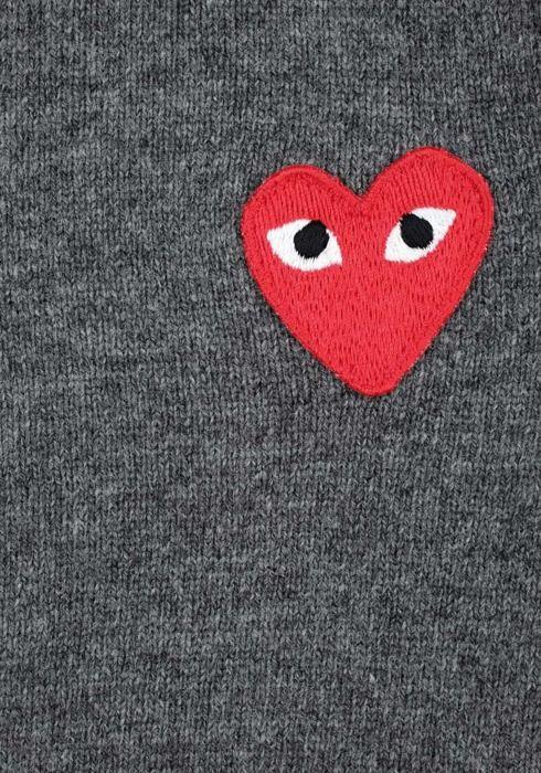 commes des garcons signature heart Cute patches