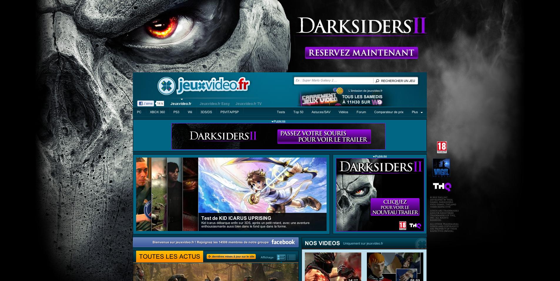 Découvrez le visage de la Mort sur www.jeuxvideo.fr avec Darksiders 2 pour THQ