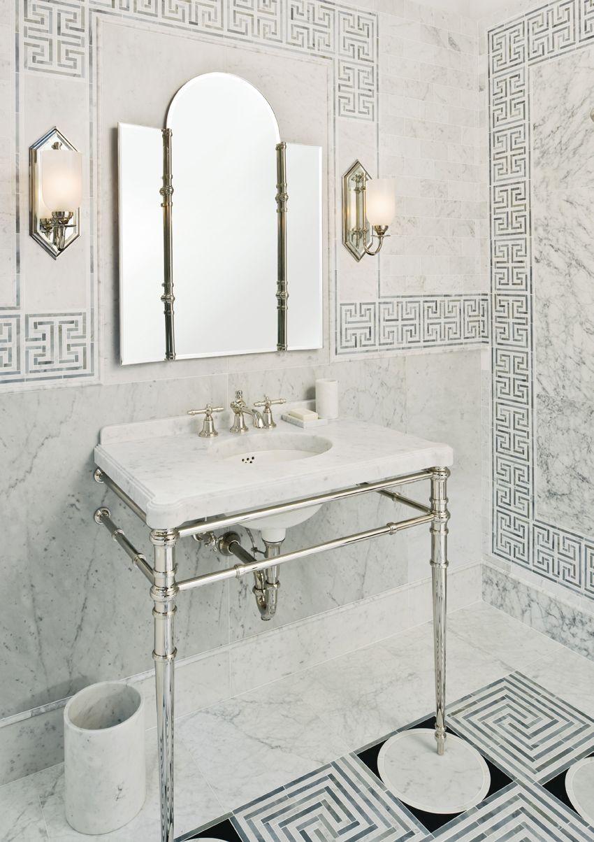 Mediterranean inspired bathroom from KALLISTA. The Inigo collection ...