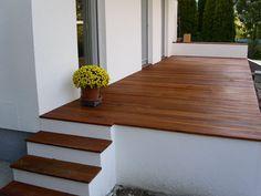 Weisse Mauern Holzterrasse Bauen Pinterest Garten Verandas