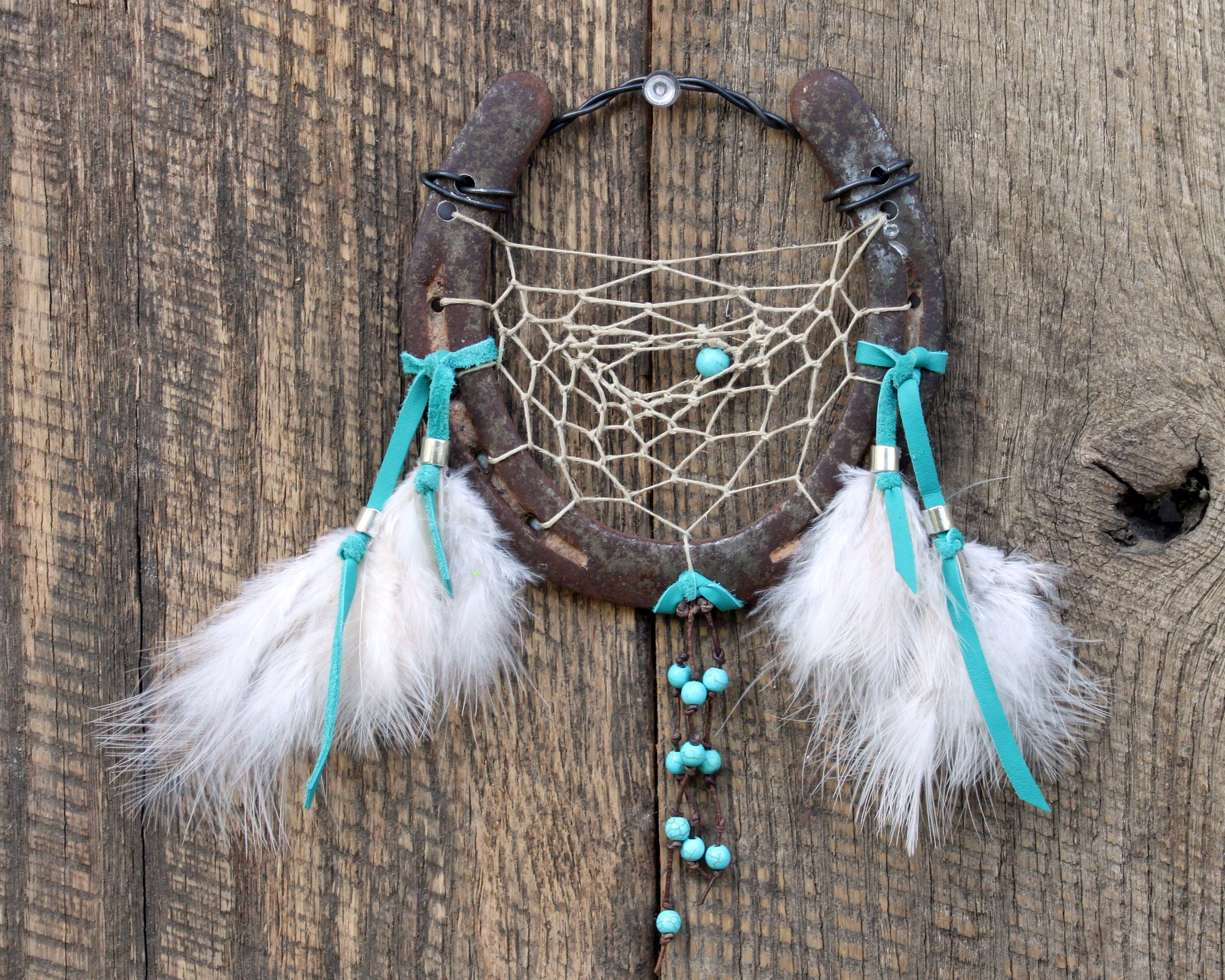Horseshoe Dreamcatcher By White Feather Jewelry