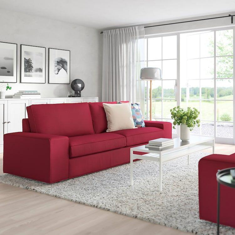Kivik Sofa Orrsta Red Ikea Rote Wohnzimmer Wohnzimmer Grau Wohnzimmer Sofa