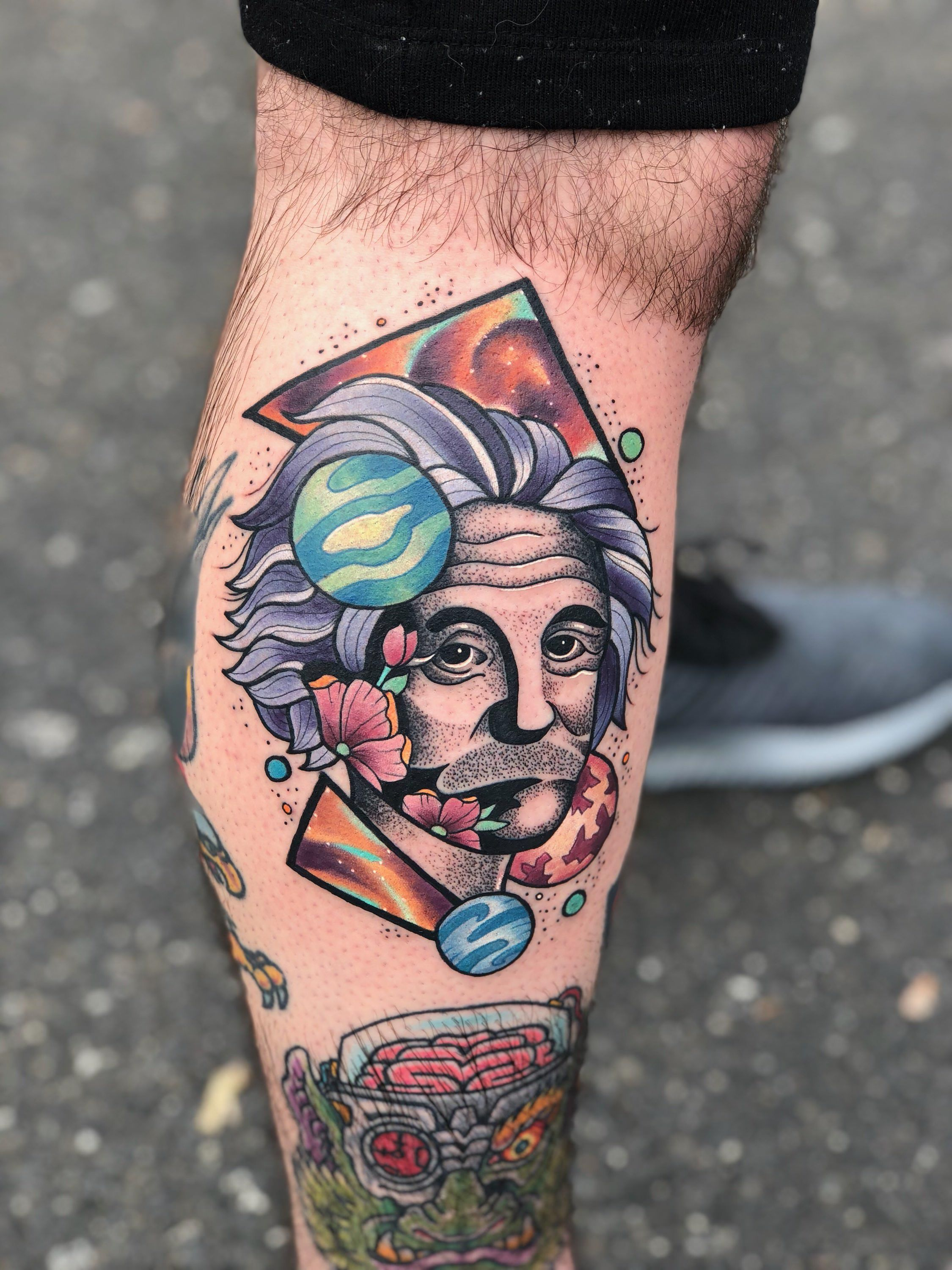Einstein By Trevor Frasca Of Golden Hearts In Mantua Nj Tatuagem