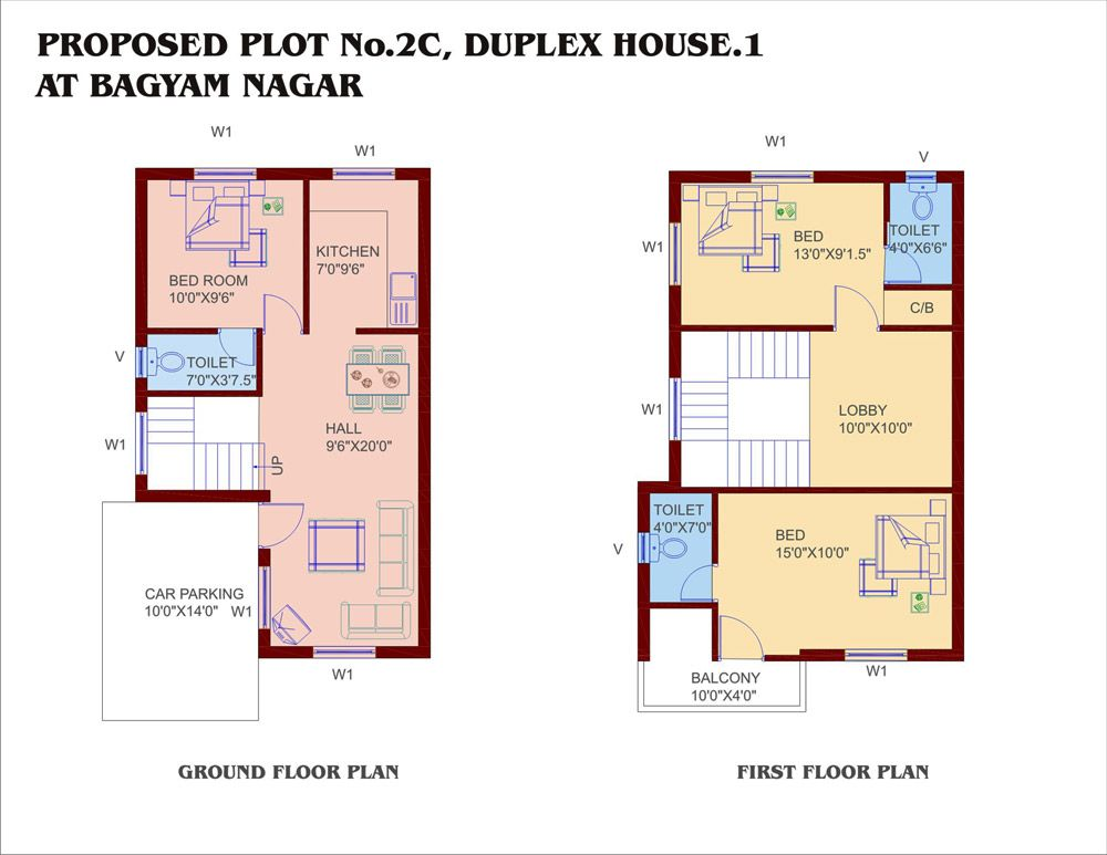 Unique small duplex house plans small house plans for Plan of duplex building