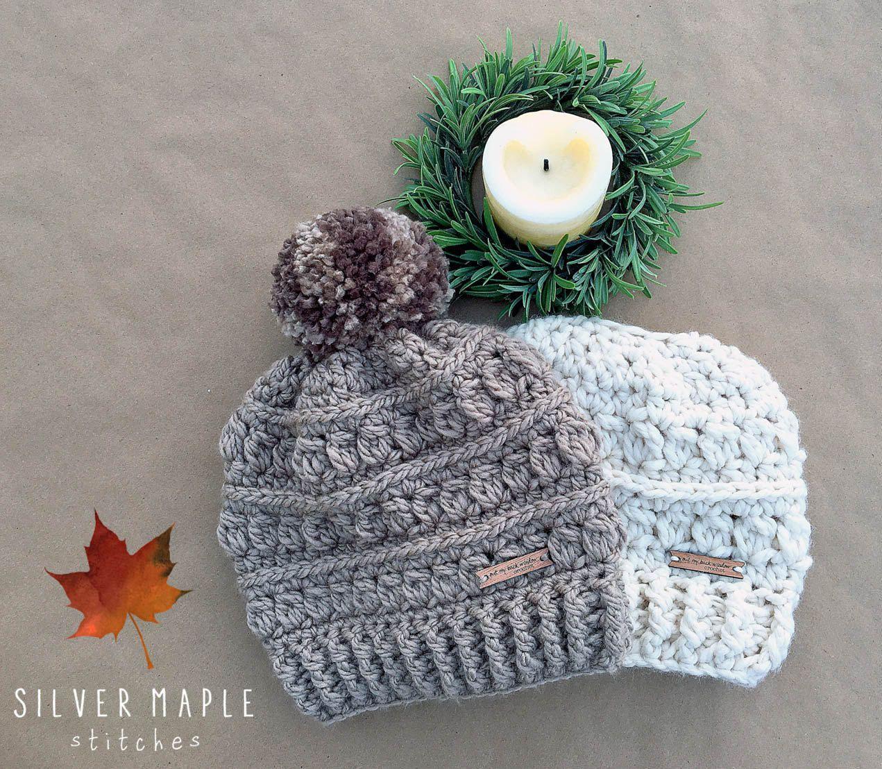 MESSY BUN HAT Pattern, Crochet Pattern, Crochet Hat Pattern, Messy ...