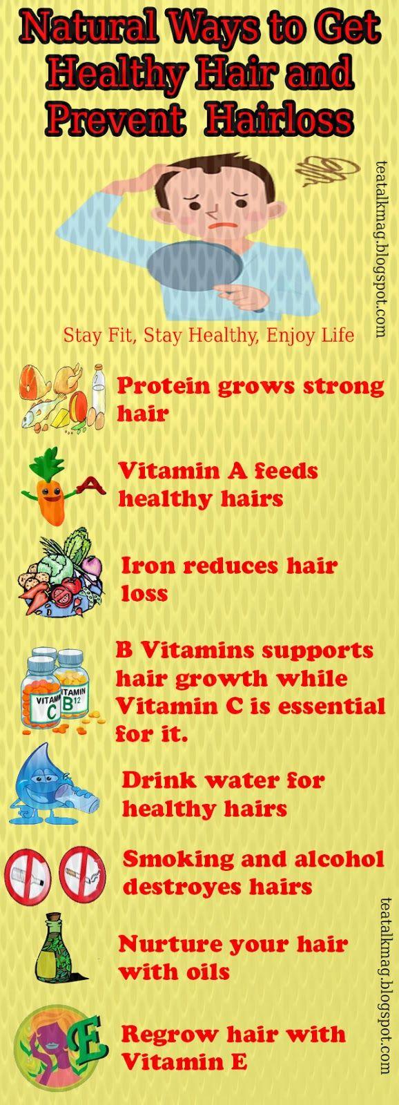 Natural Ways to Prevent and Restore Hair Loss #hairloss #hair #natural