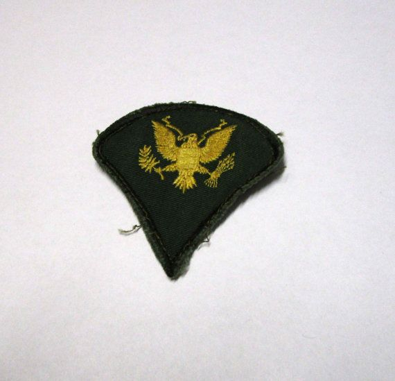 Vintage United States E4 Army Patch FREE by PaisleyPurveyor