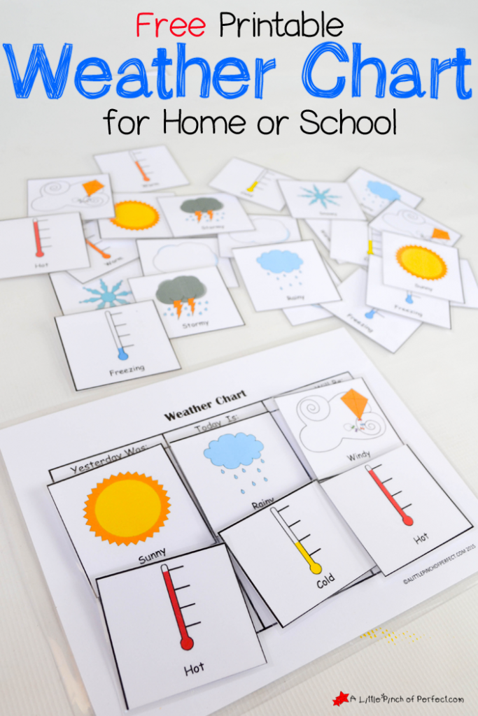 Interactive Calendar Games Kindergarten : Free printable weather chart for home or school