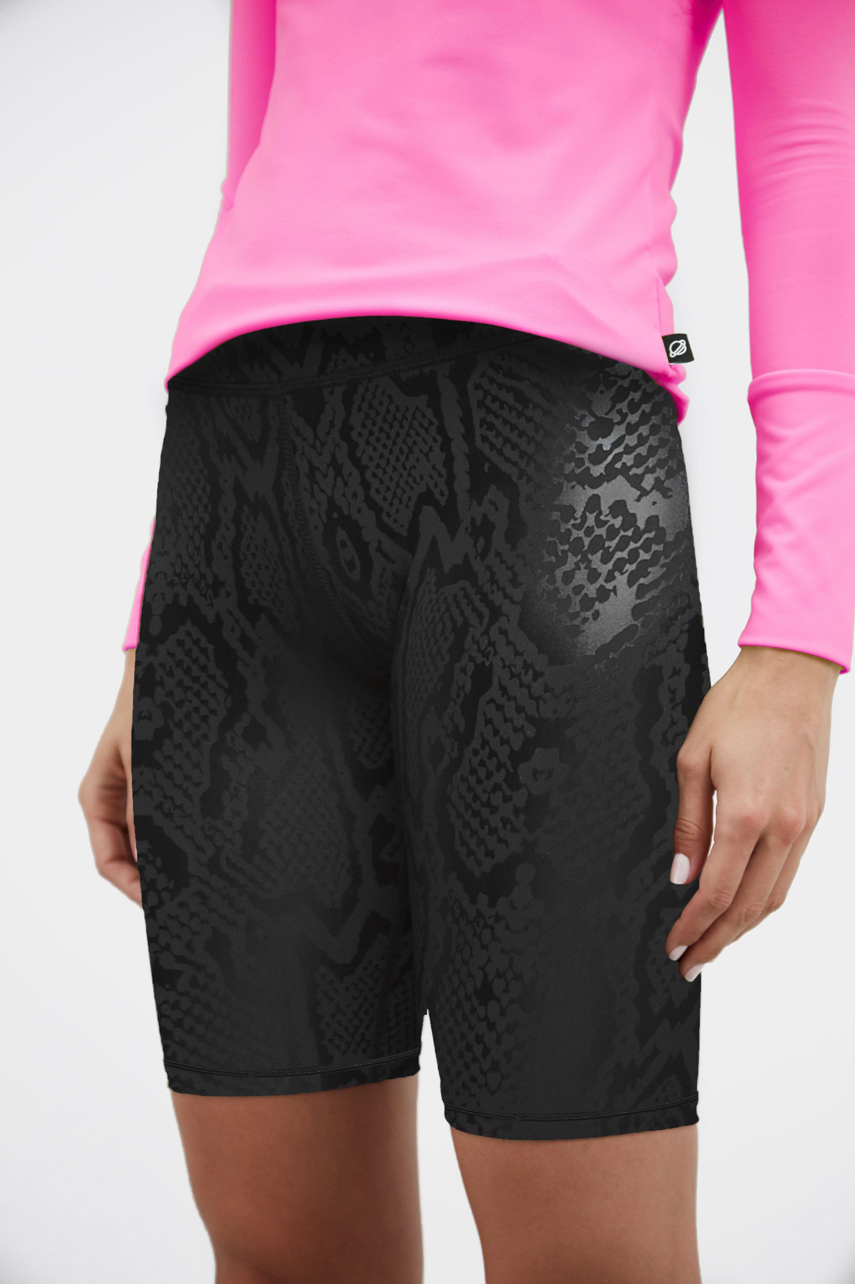 Obsidian Snakeskin Foil Uplift Bike Shorts Bike Shorts Gym Shorts Womens Biker Shorts [ 4469 x 2979 Pixel ]