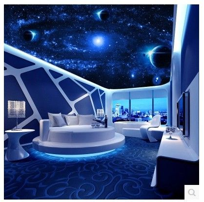 Best Ceiling Large Mural 3D Stereoscopic Living Room Bedroom 640 x 480