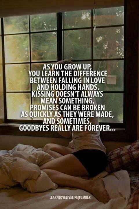 As you grow up...