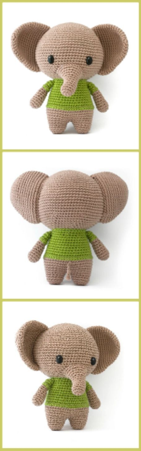 The Sweetest Crochet Elephant Patterns To Try #crochetelephantpattern The Sweetest Crochet Elephant Patterns To Try #crochetelephantpattern