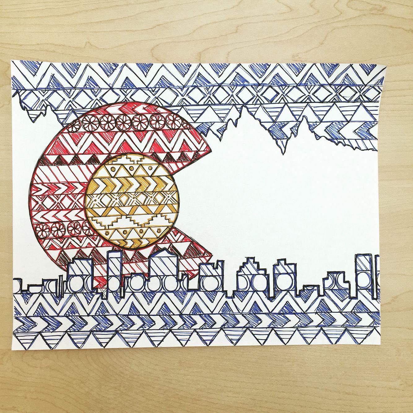 Colorado Flag #flag #colorado #tribal | Canvas Paintings, henna ...