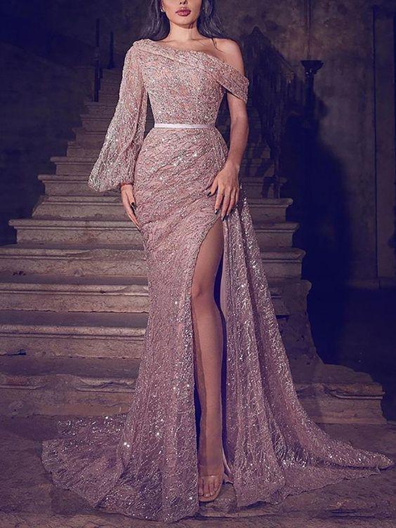 44++ One shoulder long sleeve dress ideas ideas