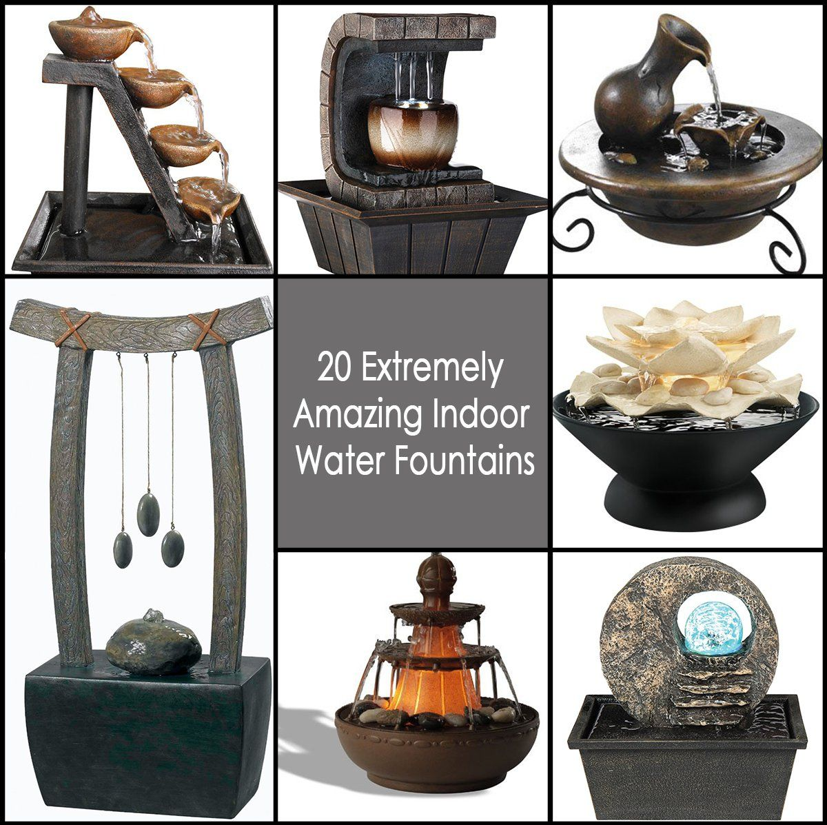 20 Extremely Amazing Indoor Water Fountains Diy Water Fountain