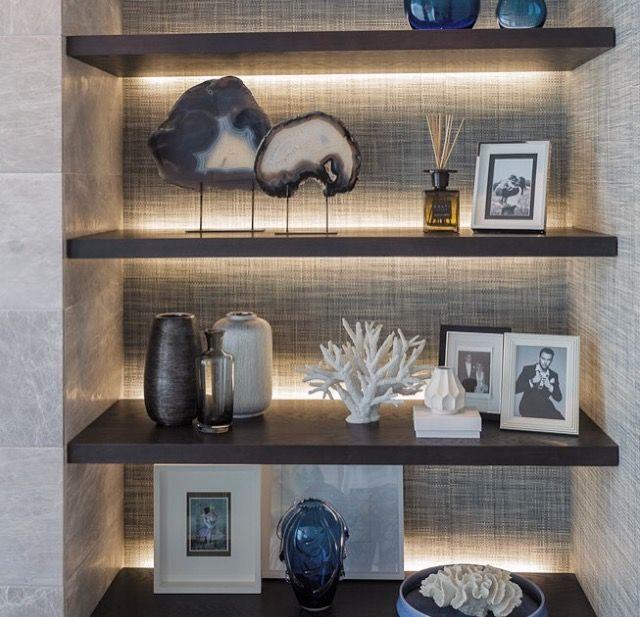 Back lit shelves