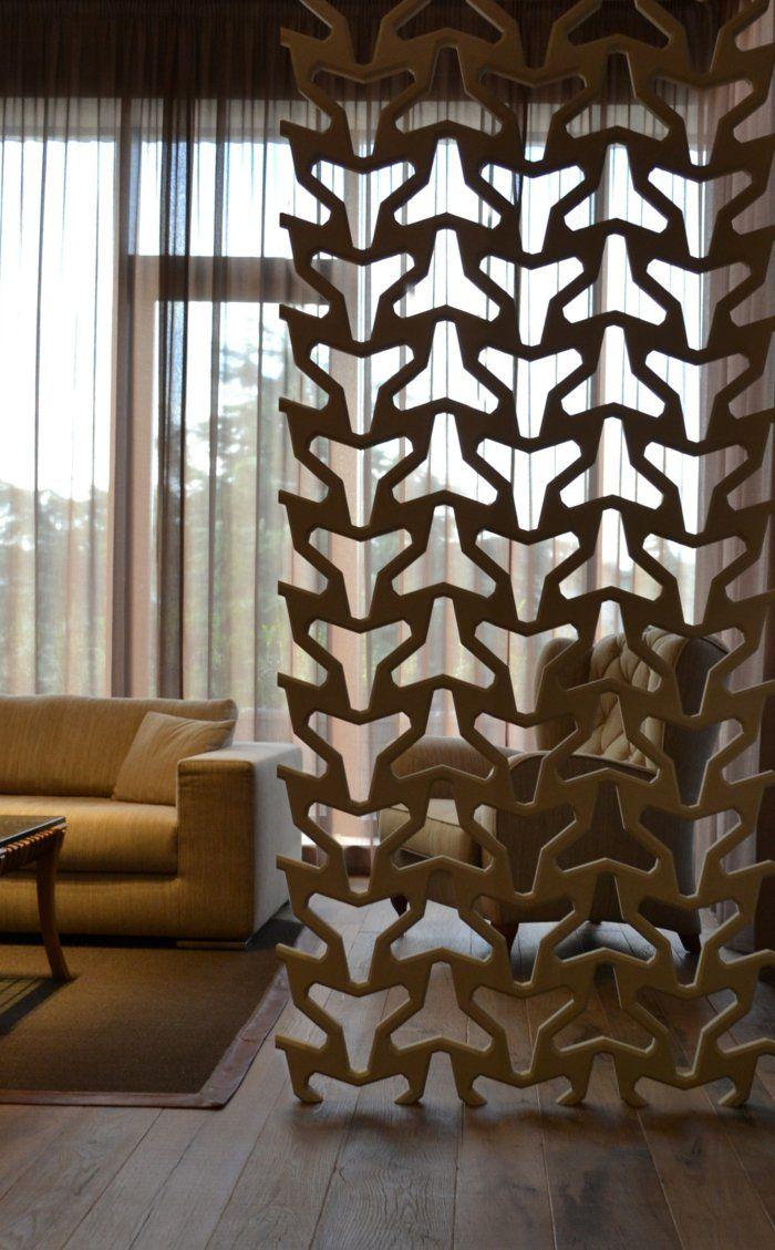 raumtrenner ideen raumteiler vorhang raumteiler regal weisse deko wand dekoration pinterest. Black Bedroom Furniture Sets. Home Design Ideas