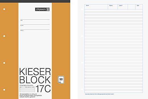 Brunnen 1042927 Kieser Block Lineatur 21 A4 50 Blatt Liniert