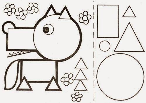 trabalhar formas geométricas deste modo pode ser divertido imprima