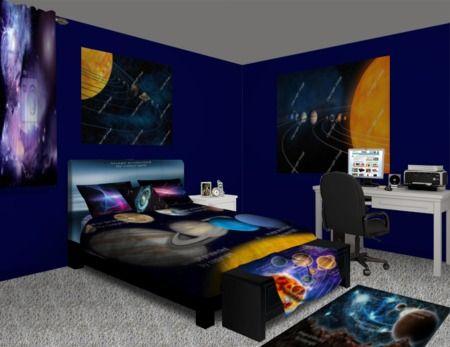 Solar System Bedroom at http://www.visionbedding.com/Solar-System ...