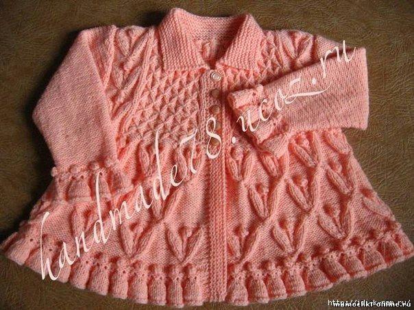 схема вязания для девочки на крестины