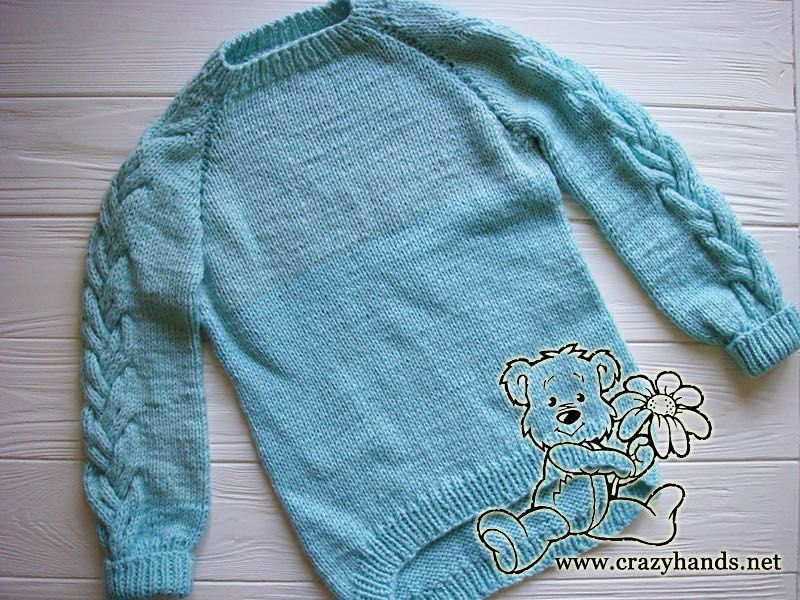 691f2be1644a sky-blue-top-down-raglan-sweater-with-cable-sleeves