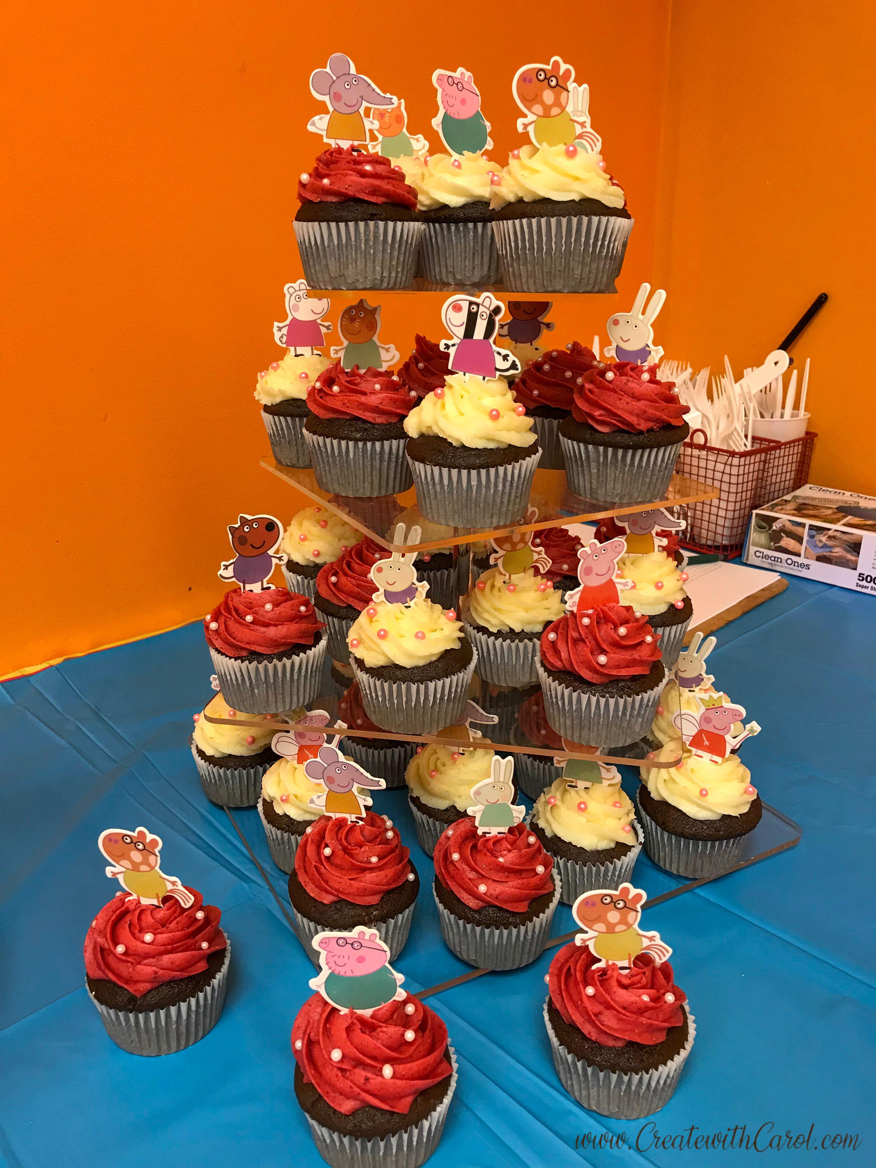 Peppa pig birthday cupcakes pig cupcakes peppa pig