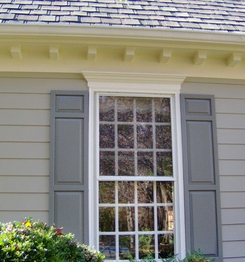 Shutters Dentils Seem Pretty Simple And Crown Molding Above Window Exteriors Pinterest
