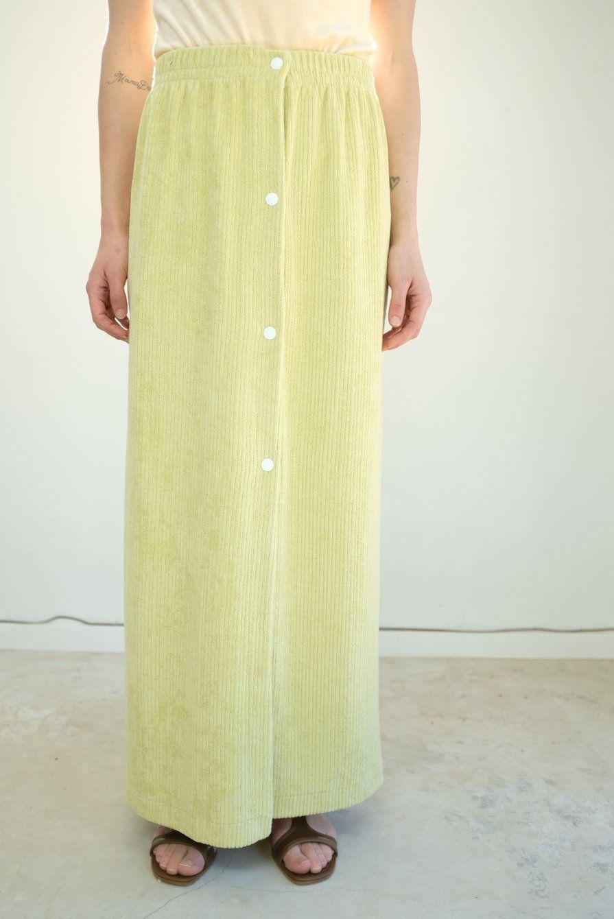 9d349956d1c8 Baserange Fauna Skirt – Beklina Classic Skirts, French Terry, Elastic Waist,  Organic Cotton