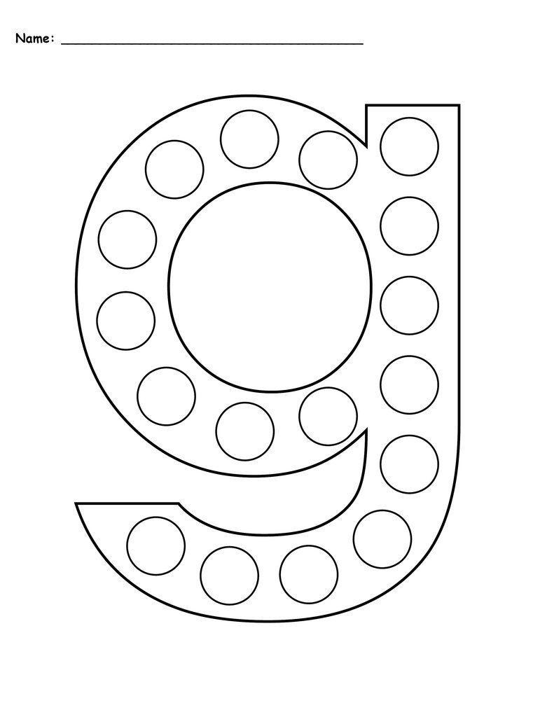Letter G Do A Dot Printables Uppercase Lowercase Letter G Crafts Do A Dot Letter A Crafts