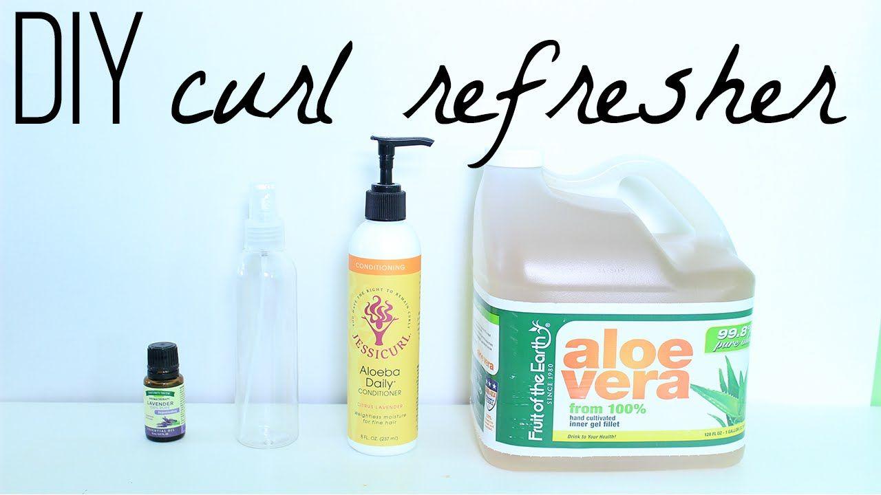 Diy curl refreshing spray diy curls homemade hair