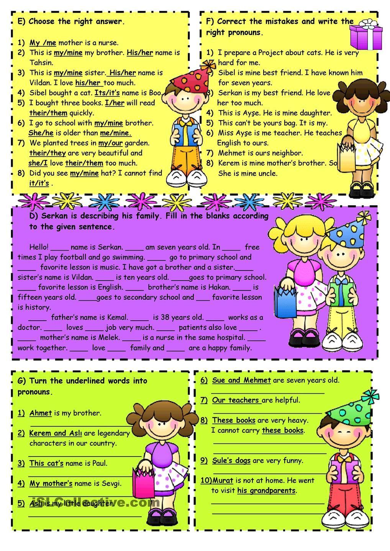 Subject&object pronouns-Possessive adjectives -2 | English ...
