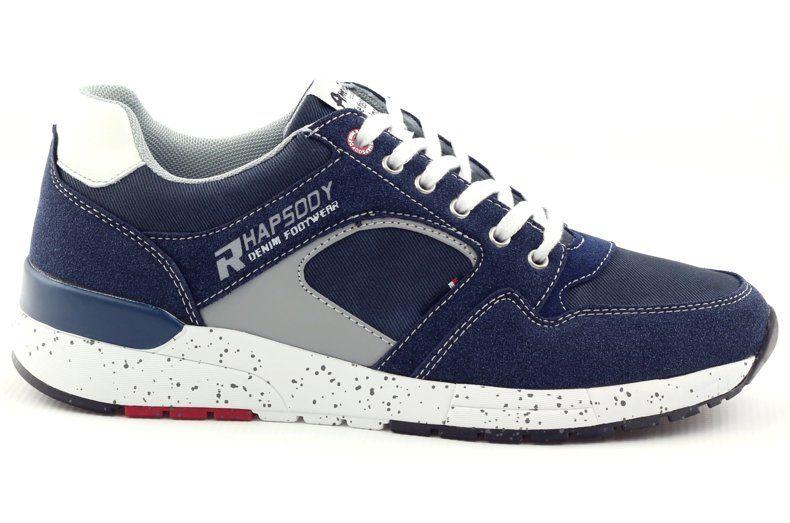 American Club Buty Meskie Sportowe Trampki American 703039 Granatowe Saucony Sneaker Footwear Sport Casual