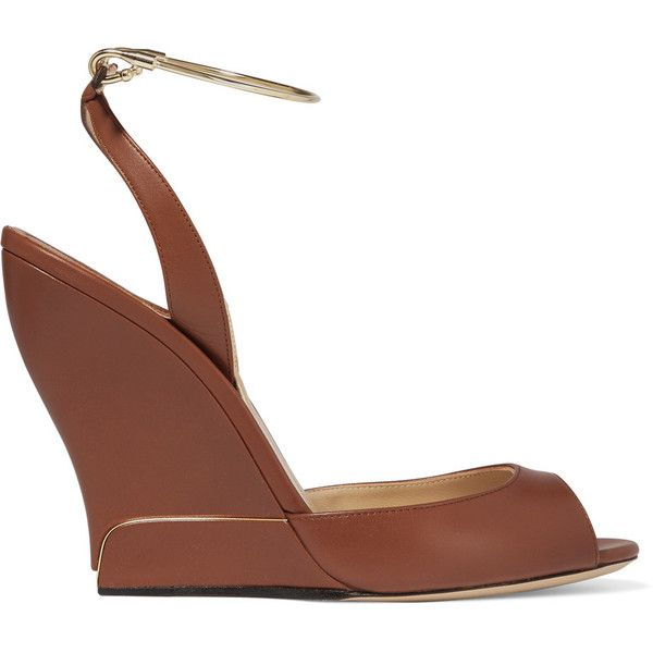 Paul Andrew Leather Ankle Strap Wedges free shipping best wholesale pre order cheap price ZcNelAqz