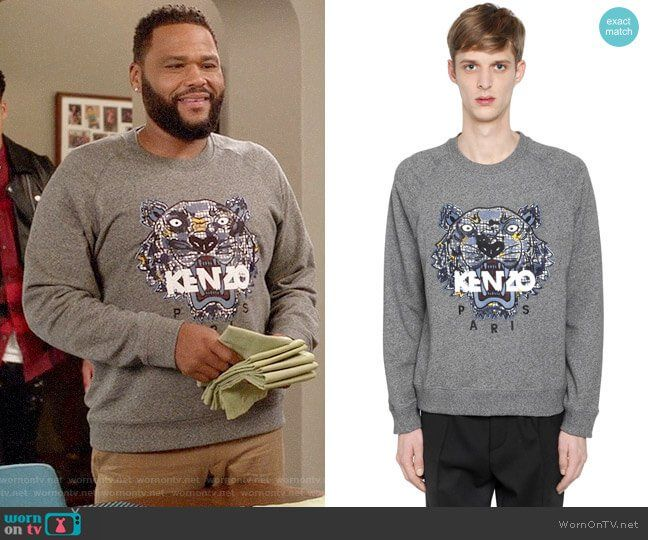 8c9a9105c8 Andre s KENZO tiger sweatshirt on Black-ish. Outfit Details  https