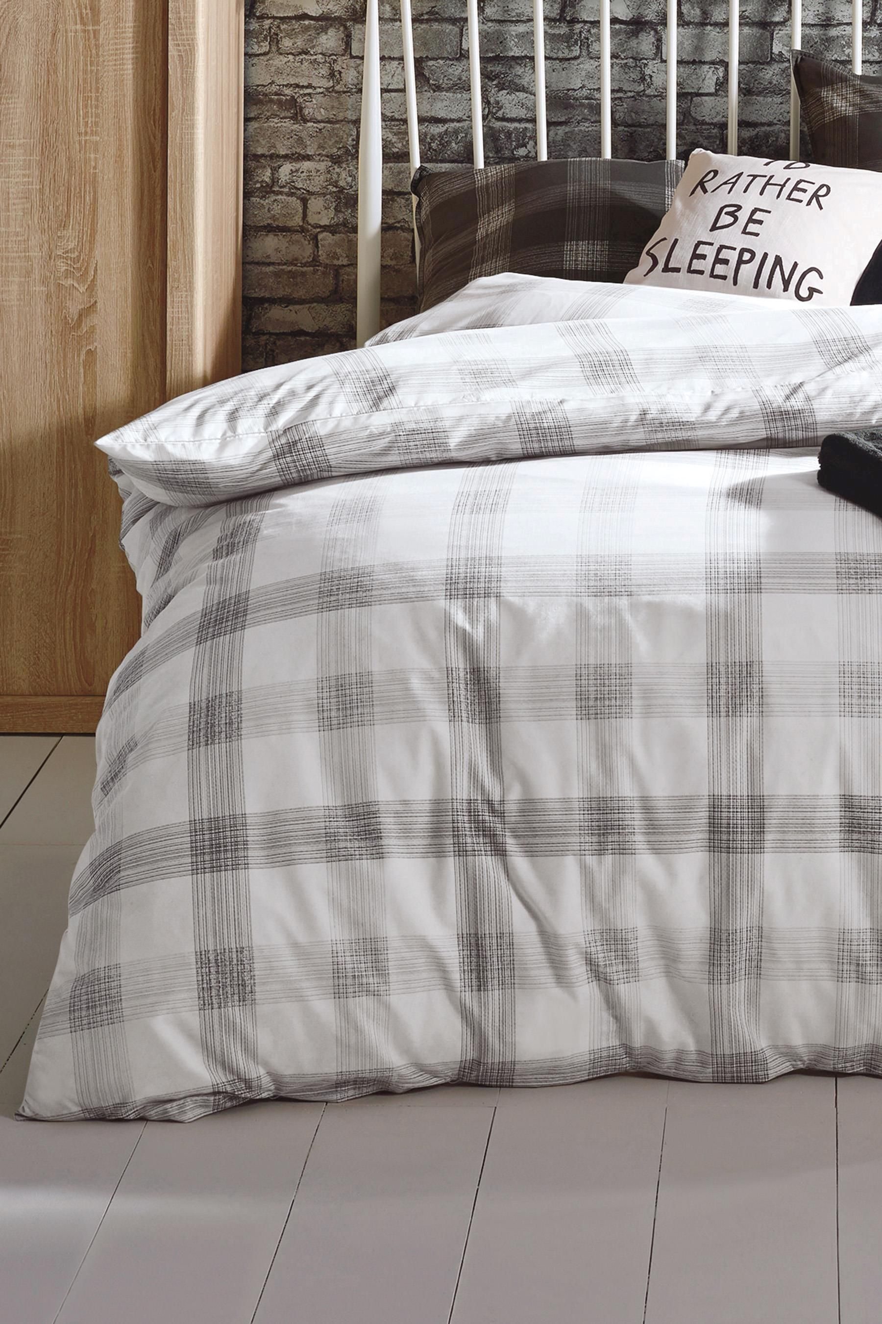 Buy Sketched Check 2 Pack Bed Set from the Next UK online shop. Buy Sketched Check 2 Pack Bed Set from the Next UK online shop