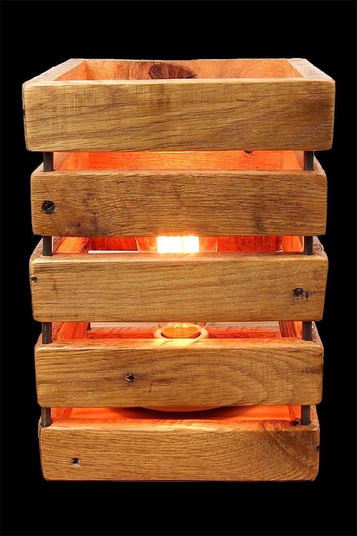 pallet wood lamp nesting ideas wood lamps wood pallets pallet. Black Bedroom Furniture Sets. Home Design Ideas