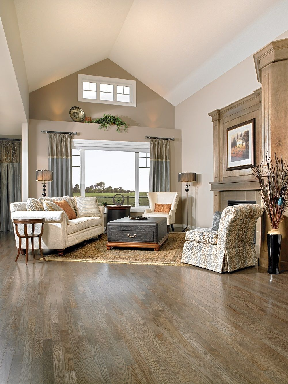 Mirage red oak charcoal hardwood flooring decor design for Color of hardwood floors