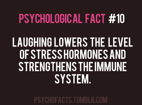 You loss | Psychology facts, Stress hormones, Laughter