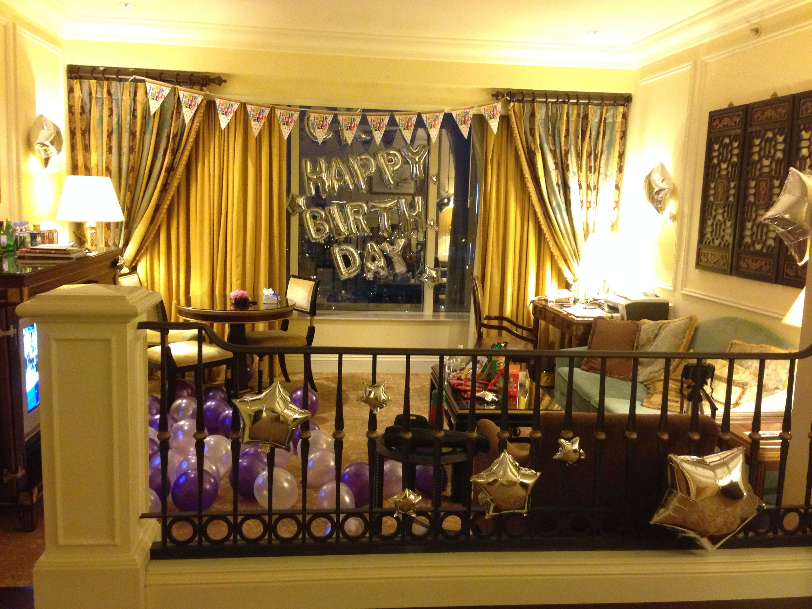 decorate a hotel room for birthday parties | Ideas | Pinterest ...